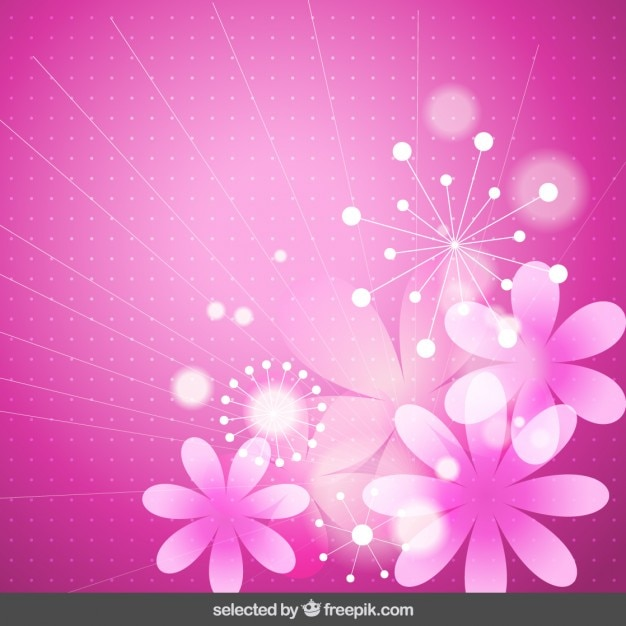Dual Monitor Girl Wallpaper Pink Floral Background Vector Free Download