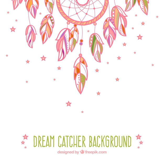 Cute Indian Baby Images For Wallpaper Pink Hand Drawn Cute Dream Catcher Background Vector