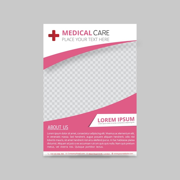 Pink medical brochure template Vector Free Download