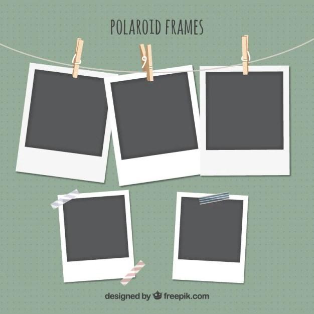 Polaroid Frames Set Vector Premium Download