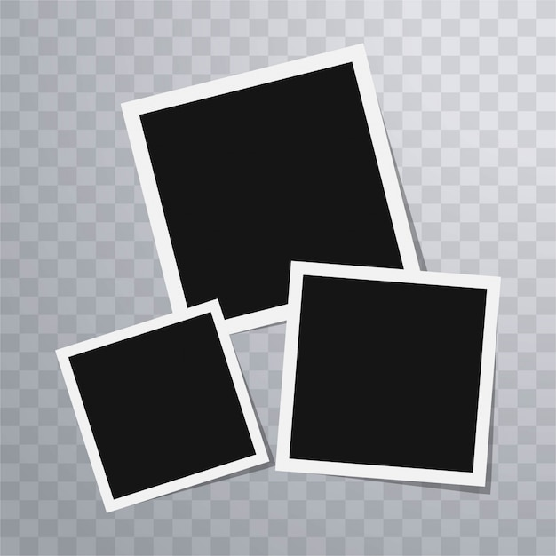 Polaroid photo frames template Vector Free Download