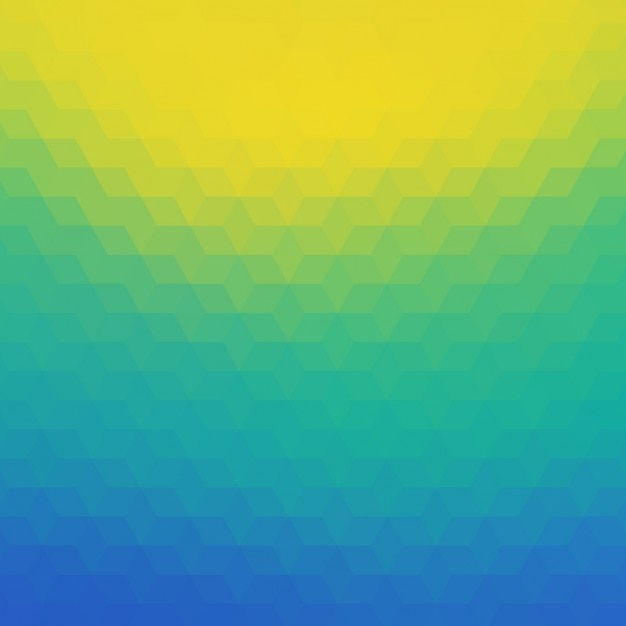 Polygonal background in blue, tuquoise and yellow tones Vector