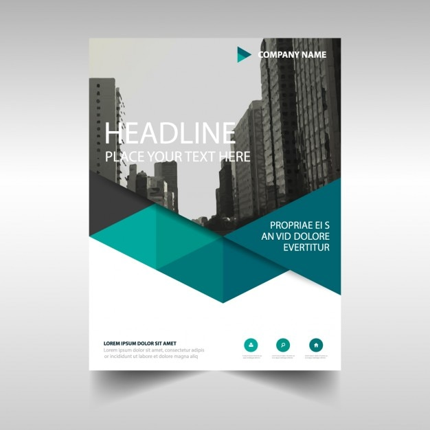 Polygonal corporate brochure template Vector Free Download - architecture brochure template