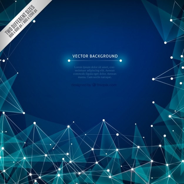 Polygonal mesh background Vector Free Download