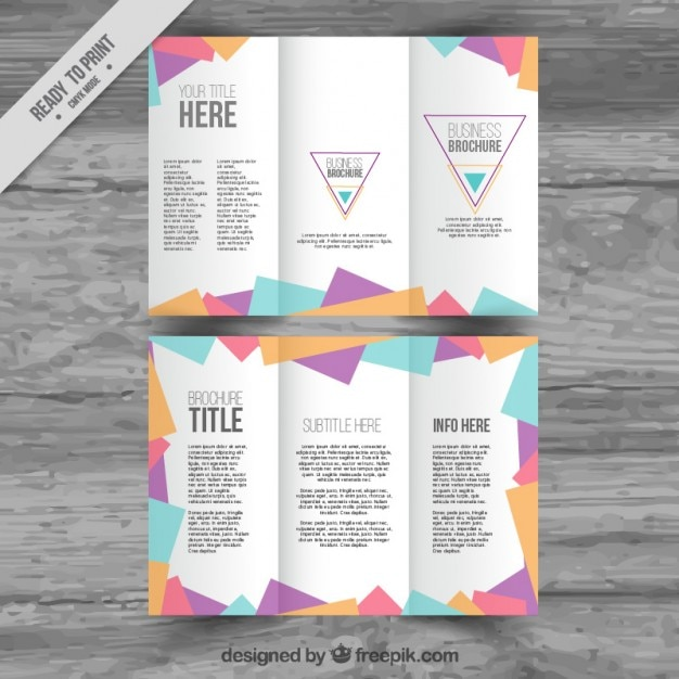 Polygonal Trifold Template Vector Free Download
