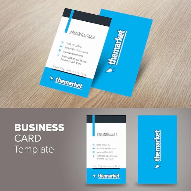 Portrait professional business card Vector Premium Download