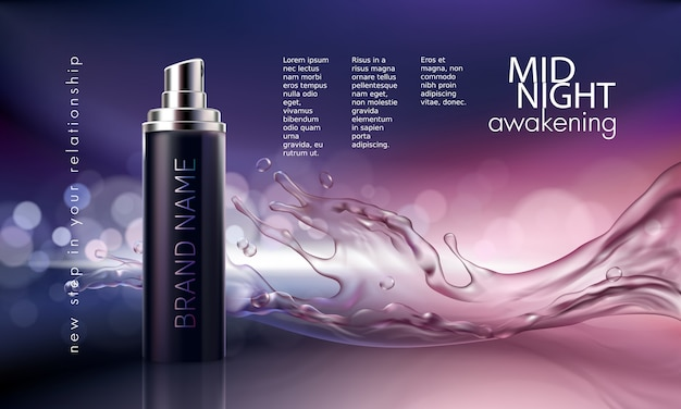 Poster for the promotion of cosmetic moisturizing and nourishing - product poster