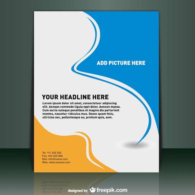 Poster template Vector Free Download - free profile templates