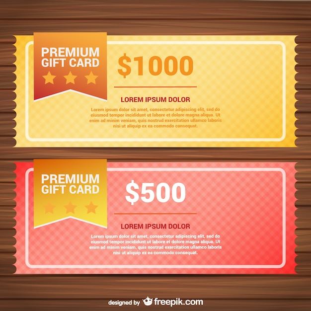Premium gift card templates Vector Free Download - gift vouchers templates