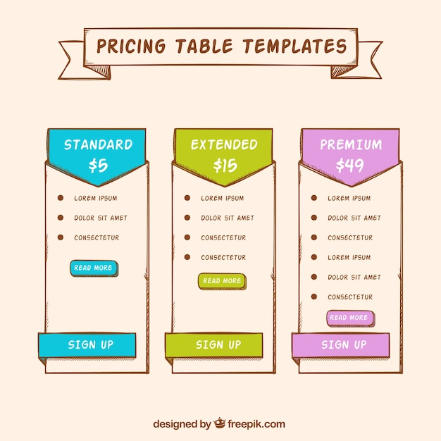 Price banner templates Vector Free Download