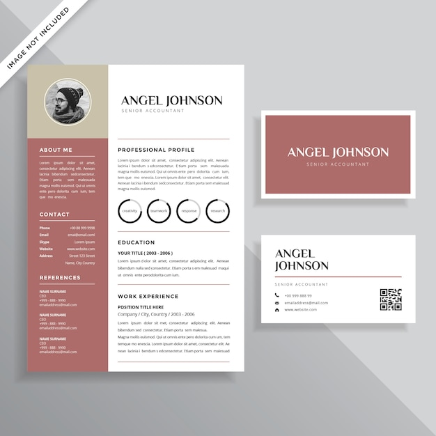 Professional Minimalist Resume CV With Business Card Vector - business card resume