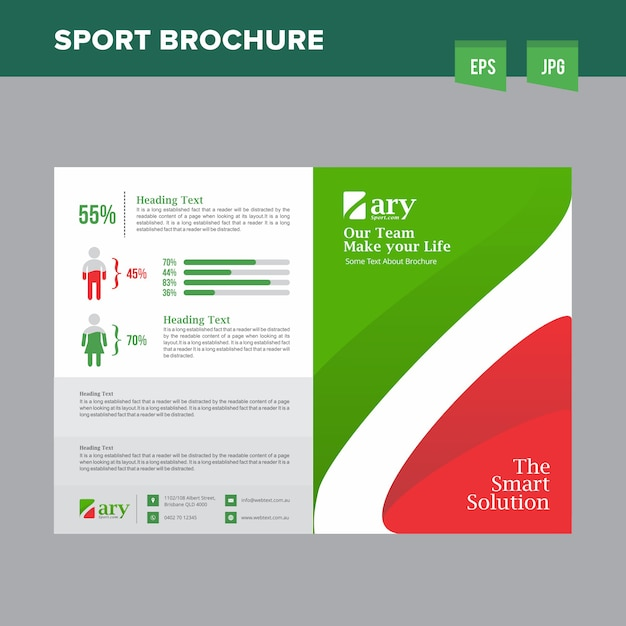 Professional Sports Club Brochure Vector Premium Download