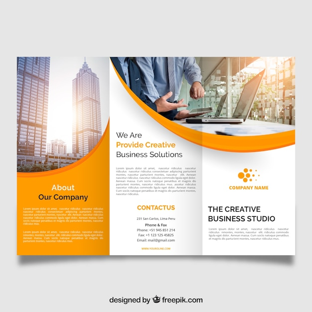 Fold Brochure Vectors, Photos and PSD files Free Download - double fold brochure