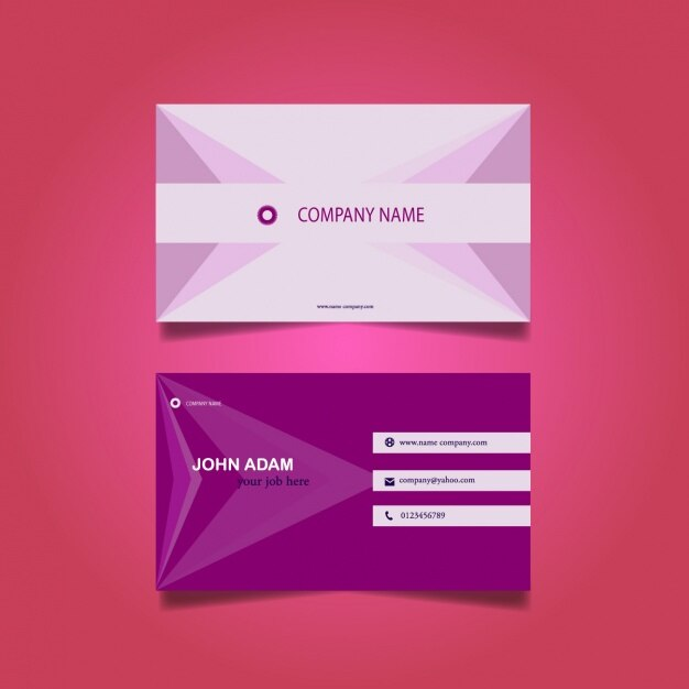 Purple business card design Vector Free Download