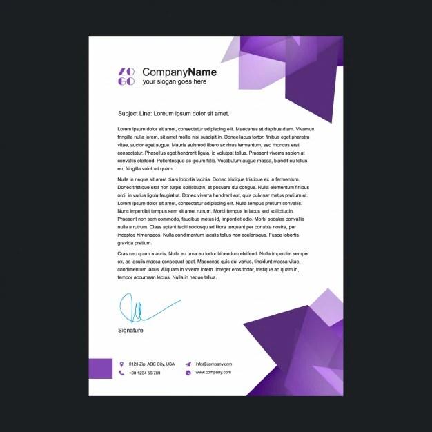 Purple letterhead template Vector Free Download - letterheads templates free download
