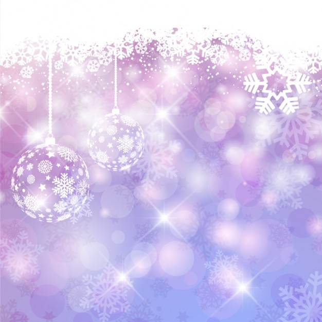 Falling Stars Wallpaper Purple Shiny Christmas Background With Baubles Vector