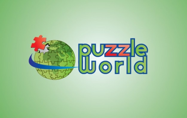 Puzzle globe Vector Free Download