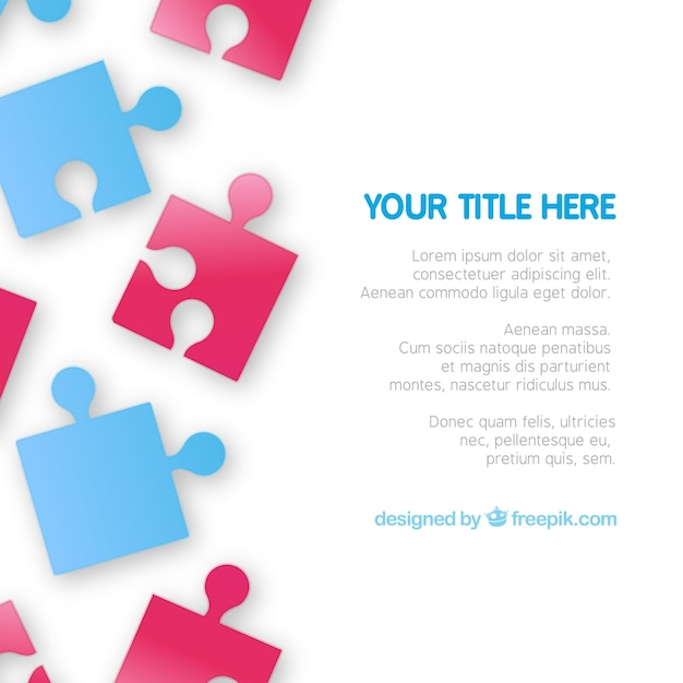 Puzzle pieces template Vector Free Download - puzzle piece template