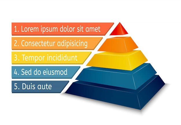 Pyramid chart for infographics Vector Free Download