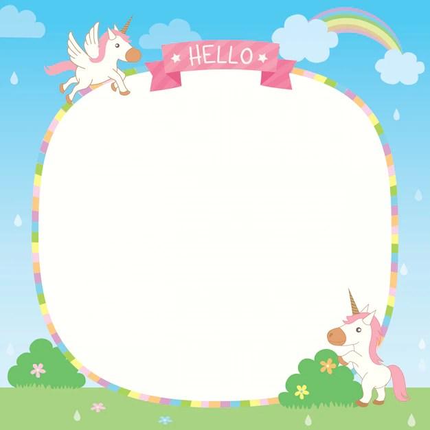 Rainbow unicorn template Vector Premium Download