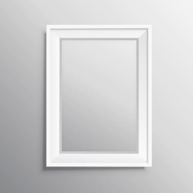 3d White Brick Wallpaper Realisitc Photo Frame Mockup Vector Free Download
