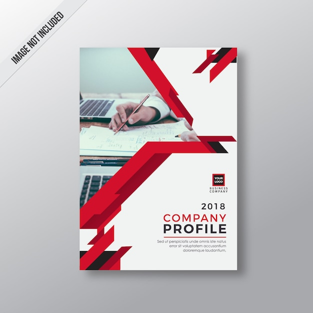 Red abstract company profile template Vector Premium Download