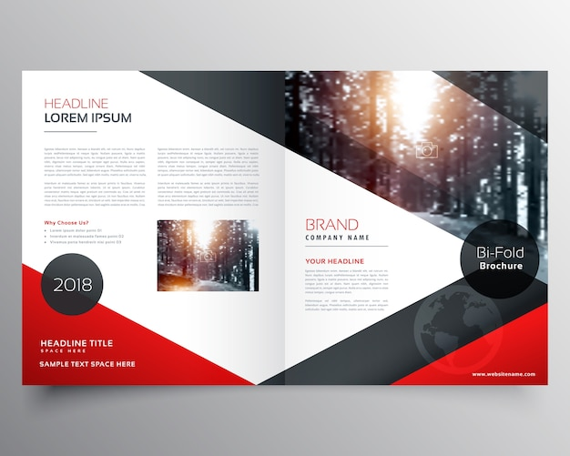 Red business brochure template Vector Free Download - sample business brochure