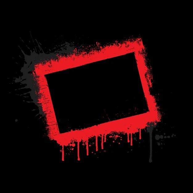 Red grunge border on black background Vector Free Download - black border background