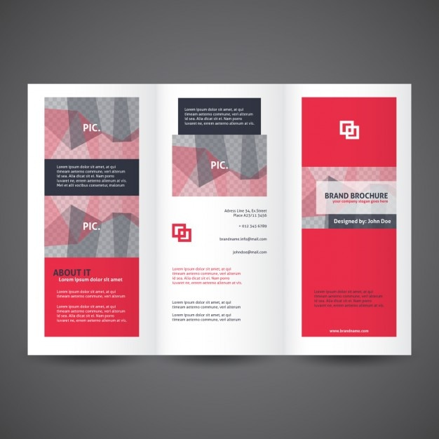 triple fold brochure template - Selol-ink
