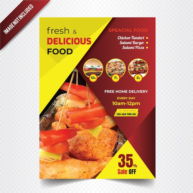 Restaurant brochure design Vector Premium Download