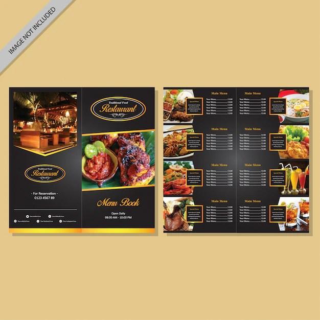 Restaurant menu book design Vector Premium Download