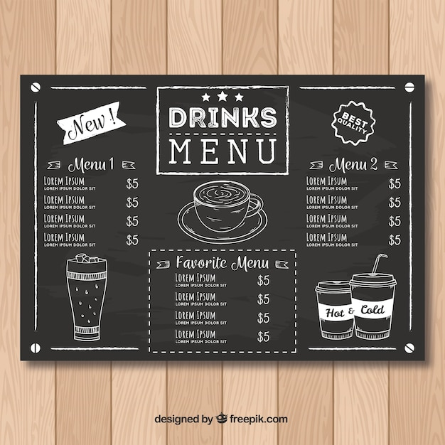 Drinks Menu Vectors, Photos and PSD files Free Download - Free Drink Menu Template