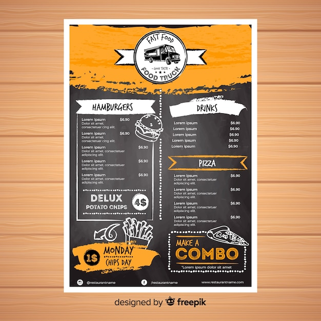 Menu Vectors, Photos and PSD files Free Download