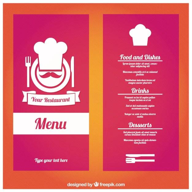 restaurant menu template - Intoanysearch