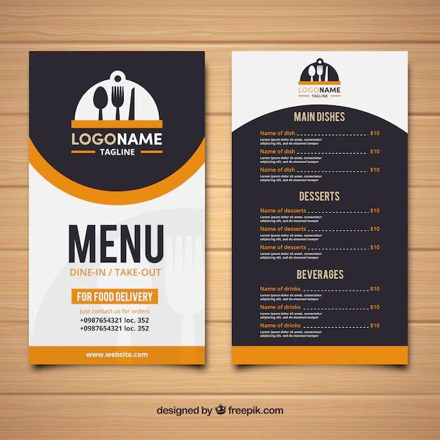 menus designs for restaurants
