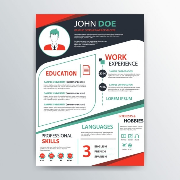 cv green template psd