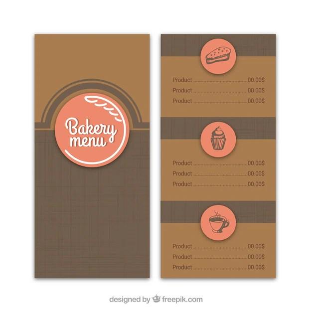 Retro bakery menu template Vector Free Download - retro brochure template