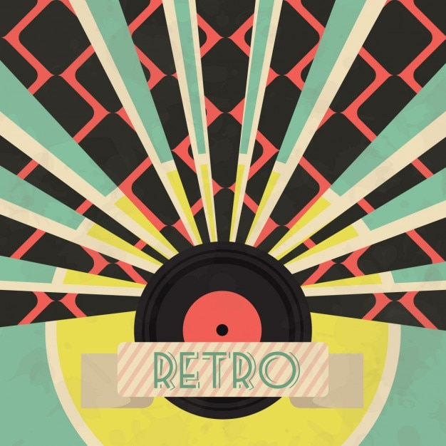 Abstract Vector Wallpaper Hd Retro Music Background With Vinyl Vector Free Download