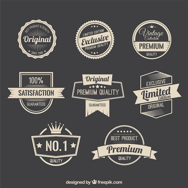 Badges Vectors, Photos and PSD files Free Download