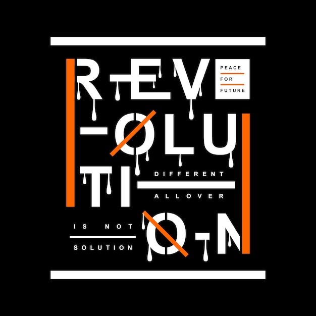 Revolution typography t shirt design Vector Premium Download
