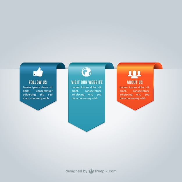 Ribbon banners template Vector Free Download
