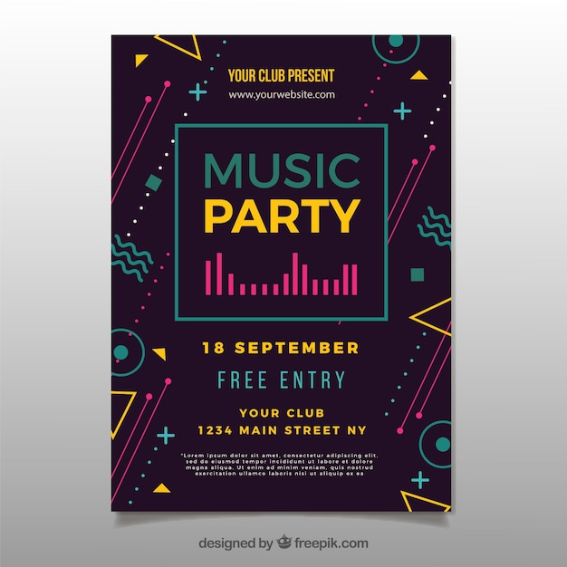 Music Poster Vectors, Photos and PSD files Free Download - contemporary flyer