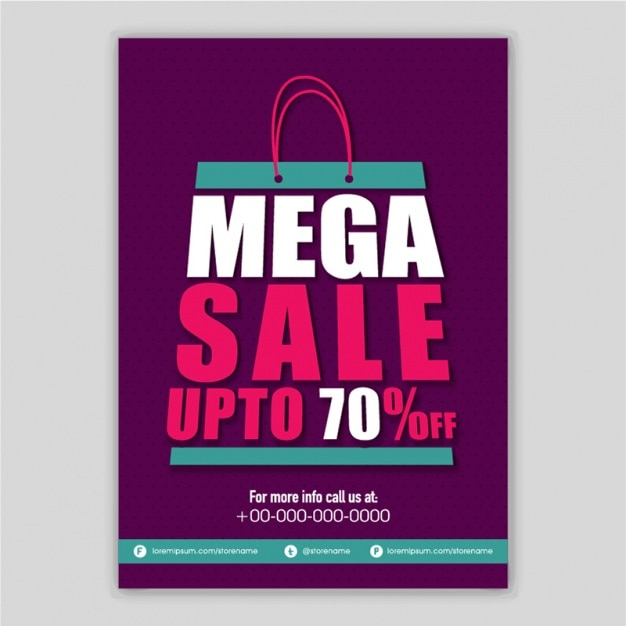 Sale poster with shopping bag Vector Premium Download - sale poster design