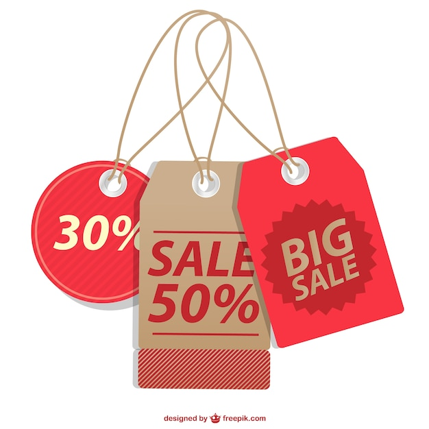 Sale price tags collection Vector Free Download - sale tag template