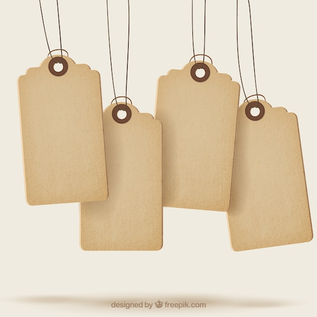 Sale tags with texture Vector Free Download - sale tag template
