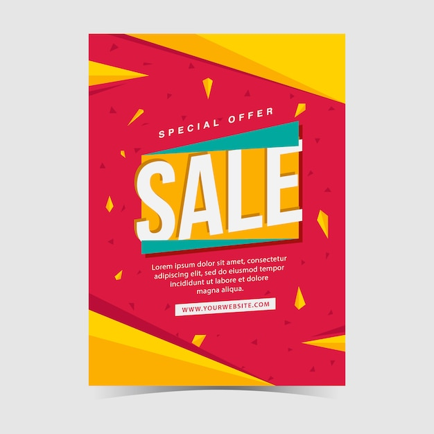 Sales poster design Vector Free Download