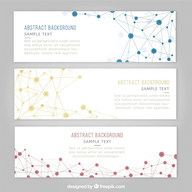 Science banner templates Vector Free Download - scientific templates