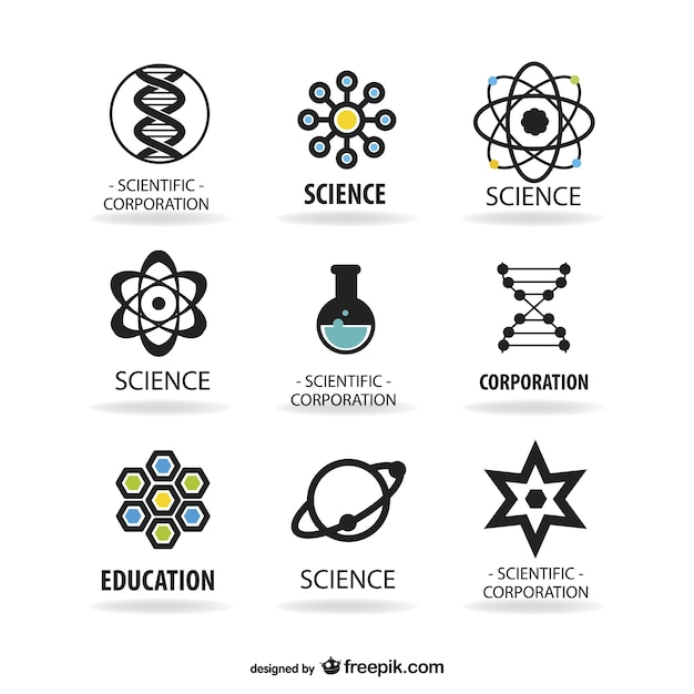Science logos template Vector Free Download - scientific templates