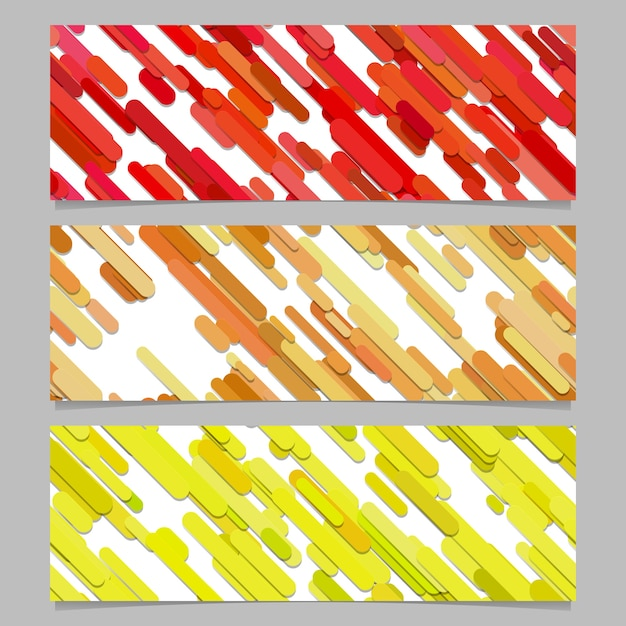 Seamless colorful random diagonal stripe pattern banner background