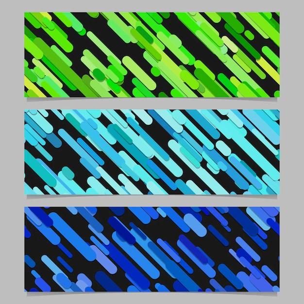 Seamless colorful random diagonal stripe pattern banner background